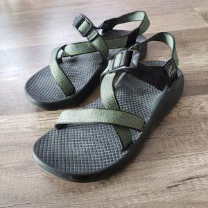 Womens CHACO sandals olive green blue stripe